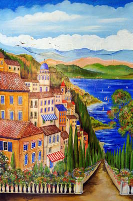 Art Print featuring the painting The Lake by Roberto Gagliardi