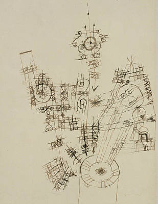 Drawing - The Last Adventure Of The Knight Errant by Paul Klee