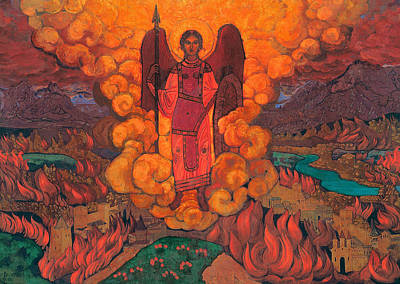 Fire Painting - The Last Angel by Nicholas Roerich
