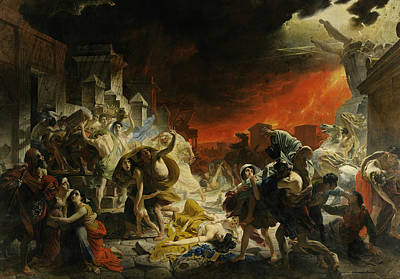 Painting - The Last Day Of Pompeii by Treasury Classics Art