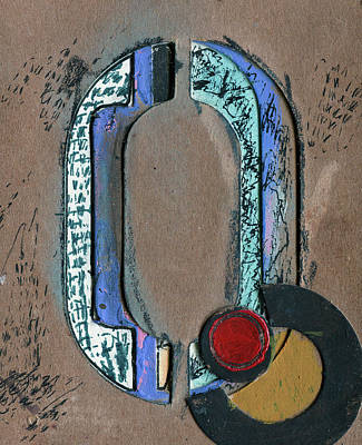 Mixed Media - The Letter Q by Robert Cattan