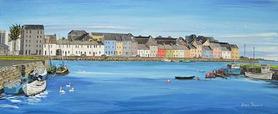 Painting - The Long Walk Galway Ireland by Diana Shephard