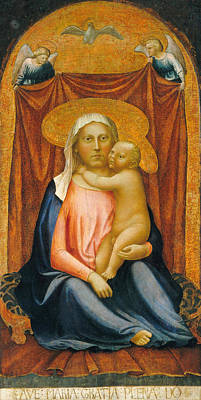 Baby Painting - The Madonna Of Humility by Masaccio