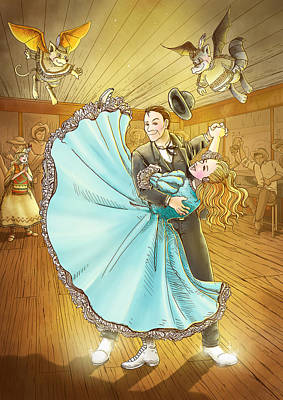 The Magic Dancing Shoes Art Print by Reynold Jay