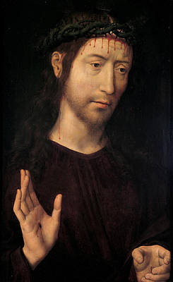 Painting - The Man Of Sorrows Blessing by Hans Memling