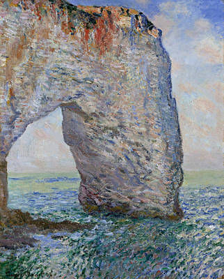 Maritime Painting - The Manneporte Near Etretat by Claude Monet
