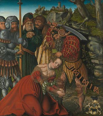 Saint Barbara Wall Art - Painting - The Martyrdom Of Saint Barbara by Lucas Cranach the Elder