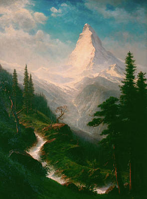 Yosemite Valley Painting - The Matterhorn by Albert Bierstadt