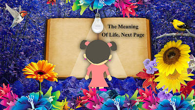 Little Girl Mixed Media - The Meaning Of Life Art by Marvin Blaine