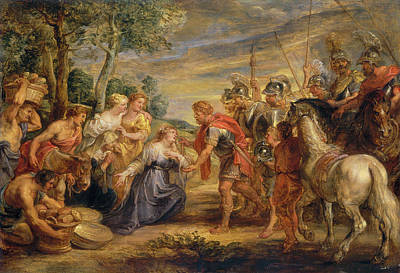 Abigail Painting - The Meeting Of David And Abigail by Peter Paul Rubens