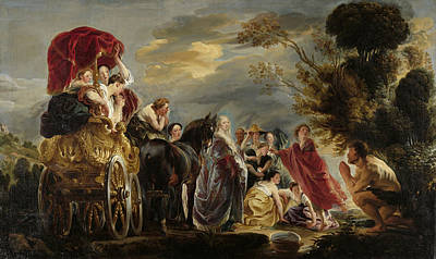 Painting - The Meeting Of Odysseus And Nausicaa by Jacob Jordaens