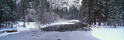 Snowscape Photograph - The Merced River In Winter, Yosemite by Panoramic Images
