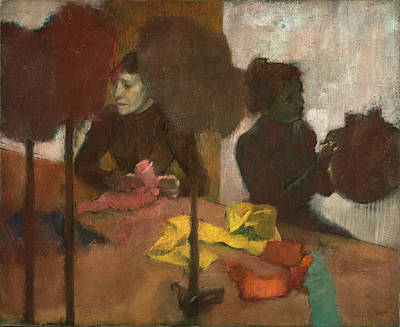 Milliner Painting - The Milliners by Edgar Degas