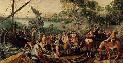 The Miraculous Draught Of Fishes Art Print by Joachim Beuckelaer