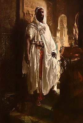 Historic Painting - The Moorish Chief by Mountain Dreams