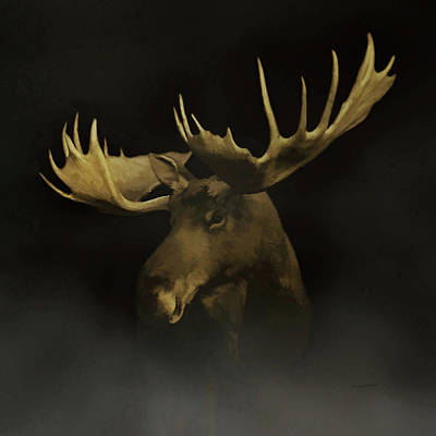 Digital Art - The Moose by Ernie Echols