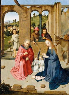 Kid Painting - The Nativity by Gerard David