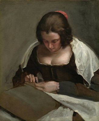 Painting - The Needlewoman by Diego Velazquez