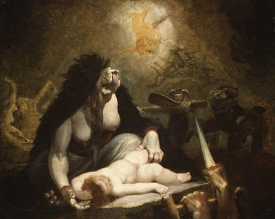 Painting - The Night-hag Visiting Lapland Witches by Henry Fuseli