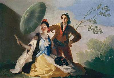 Umbrella Painting - The Parasol by Francisco Goya