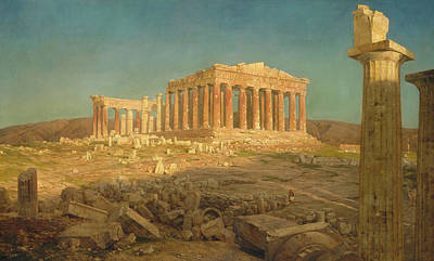 Greek Painting - The Parthenon by Frederic Edwin Church
