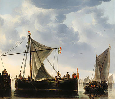 Netherlands Painting - The Passage Boat by Mountain Dreams