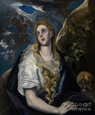 St Mary Magdalene Painting - The Penitent Magdalene by El Greco