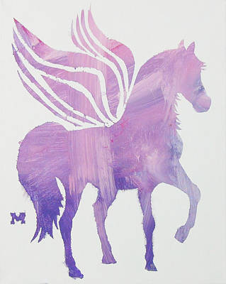 Painting - The Pink Pegasus by Candace Shrope
