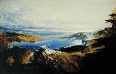 Tate Gallery Painting - The Plains Of Heaven  by John Martin