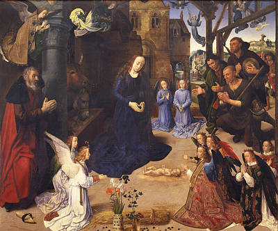 Painting - The Portinari Triptych by Hugo van der Goes