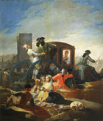Group Painting - The Pottery Vendor by Francisco Goya