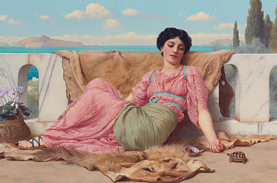 Pre-20th Painting - The Quiet Pet by John William Godward