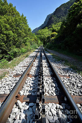 Photograph - The Rack Railway In Vouraikos Gorge by George Atsametakis