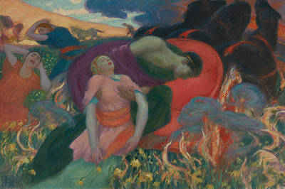 Painting - The Rape Of Persephone by Rupert Bunny