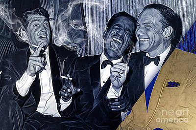 Frank Sinatra Mixed Media - The Rat Pack Collection by Marvin Blaine