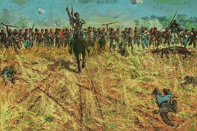 Painting - The Rebel Charge by Sydney Adamson