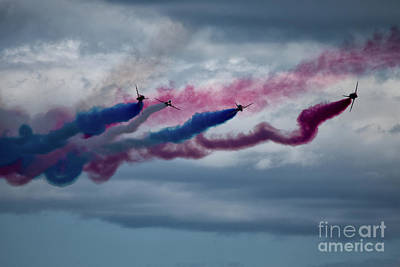 Airplane Photograph - The Red Arrows by Nichola Denny