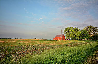 Photograph - The Red Barn by Bonfire Photography