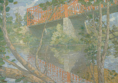 Painting - The Red Bridge by Julian Alden Weir