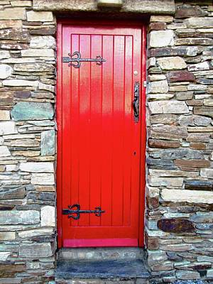 Photograph - The Red Door by Stephanie Moore