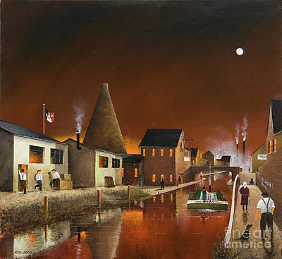 Painting - The Red House Cone, Wordsley by Ken Wood