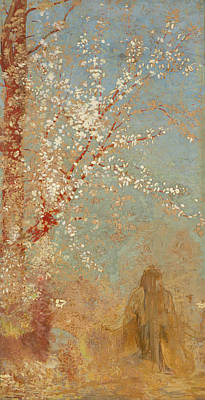 Post-impressionism Painting - The Red Tree by Odilon Redon