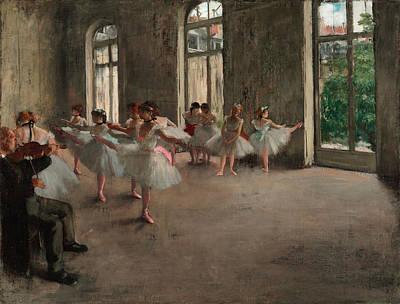 Prima Ballerina Painting - The Rehearsal by Edgar Degas
