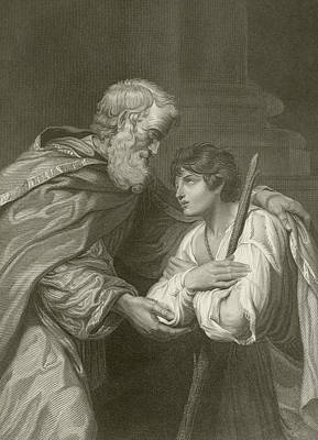 Forgive Drawing - The Return Of The Prodigal Son by English School
