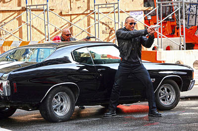 Dwayne The Rock Johnson Photograph - The Rock Dwayne Johnson On The Set Of The Other Guys by Artisan  Array