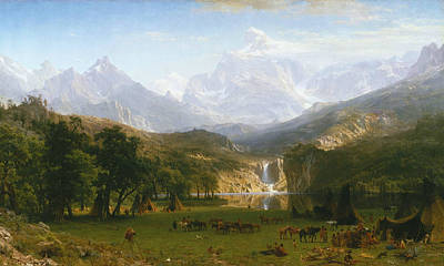 The Rocky Mountains, Lander's Peak Art Print by Albert Bierstadt