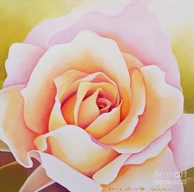 Floral Painting - The Rose by Myung-Bo Sim