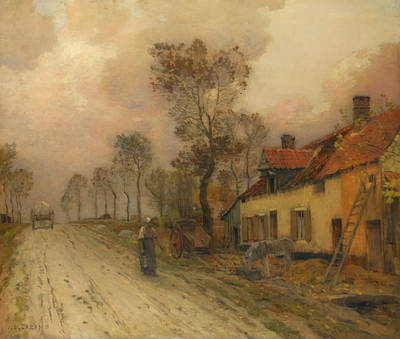 Painting - The Route Nationale At Samer by Jean-Charles Cazin