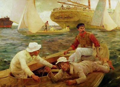 Painting - The Run Home by Henry Scott Tuke