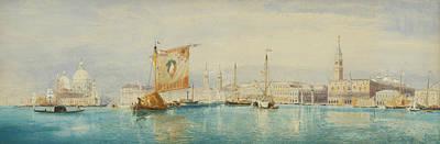 Venice Drawing - The Saint Mark's Basin, Venice by James Holland